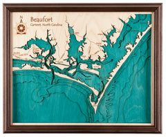 3D Laser Carved Depth Map 24 x 30 (Oak Frame Options Available with Plexiglass Front)