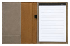 "9""x 12"" or 7""x 9 Etched Lake Leather Notebook"