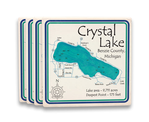 Lake Square Coasters - LA - 4.25 x 4.25 in Set of 8!