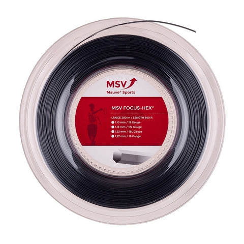 MSV BOBINA 200 mt FOCUS HEX Black