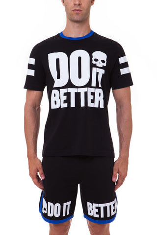 HYDROGEN - T-SHIRT DO IT BETTER FZ HOODIE Black