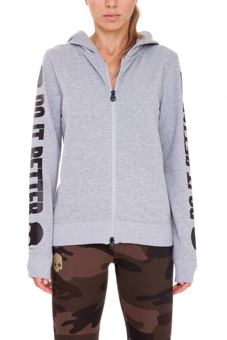 HYDROGEN - FELPA DO IT BETTER FZ HOODIE Grey WOMAN