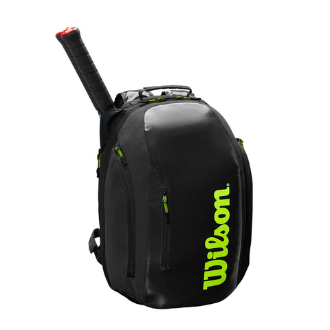 Wilson Super Tour Backpack - Black/Green -  NEW 2019