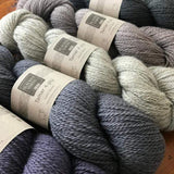 Blacker Tamar Lustre Blend 4-ply yarn.