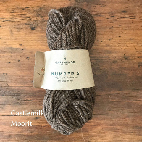 Skein of Garthenor Number 5 - Chunky yarn, Organic Castlemilk Moorit Wool.