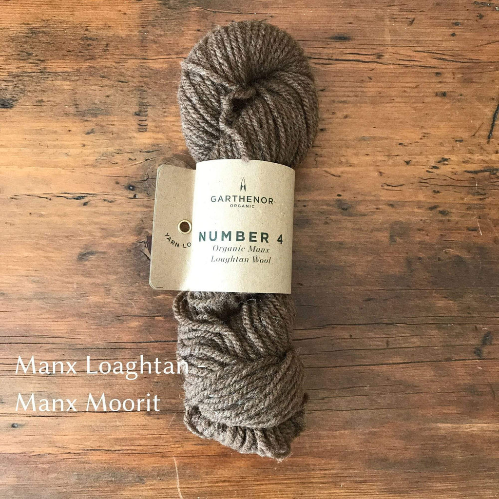 Skein of Garthenor Number 4 - Aran/Worsted yarn. A single breed, Manx Loaghtan Wool yarn in Manx Moorit.