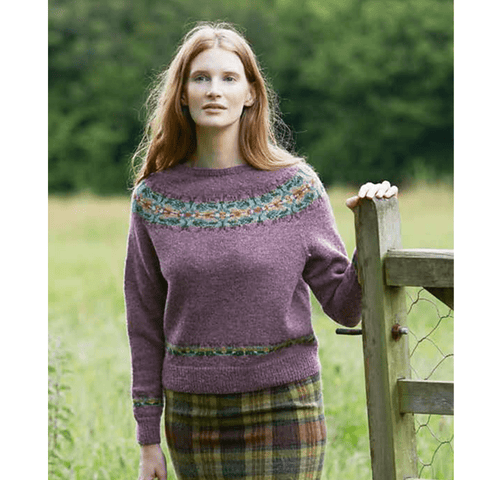 Thistle Kit in Jamieson's SPINDRIFT from Marie Wallin's Meadow Book