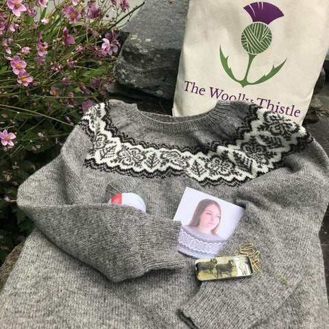 Silver Forest by Jennifer Steingass in Jamieson & Smith Supreme Yarn Kit