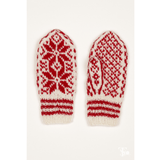 Pair of Red and White Selbu Mittens from the Selbu Mittens book by Anne Bårdsgård.