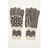 Pair of Black and White Gloves from the Selbu Mittens book by Anne Bårdsgård.