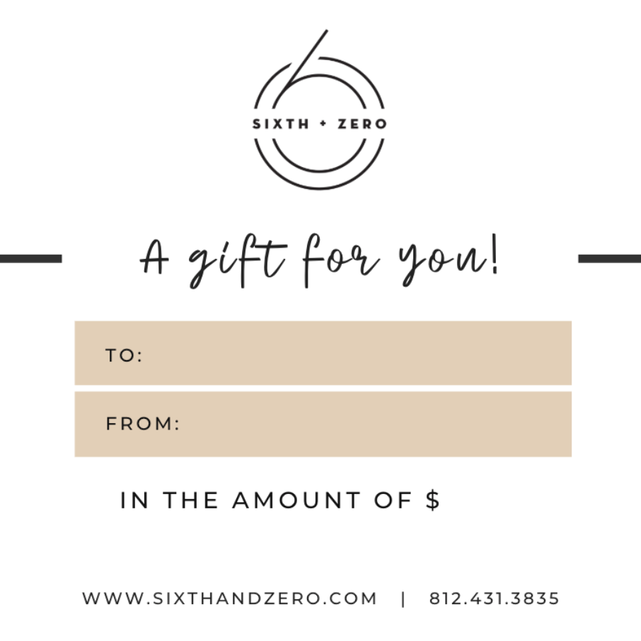 Load image into Gallery viewer, Sixth + Zero Gift Card
