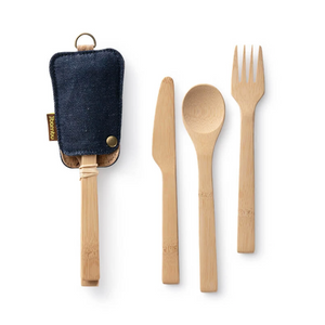 Utensil Set with Eco-Conscious Pouch