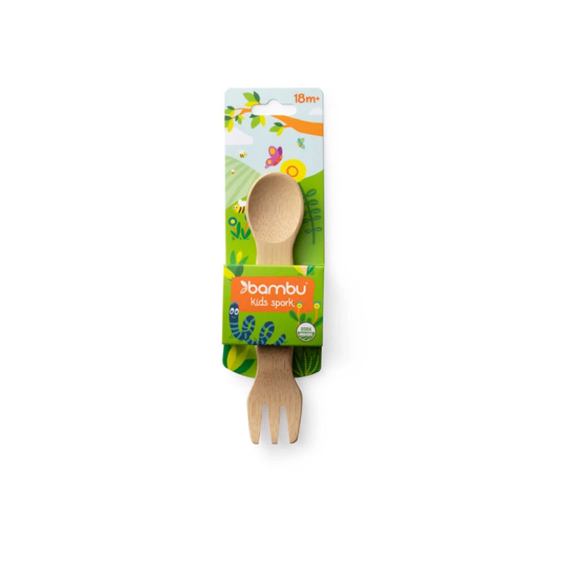 Load image into Gallery viewer, Kid's Organic Bamboo Spork