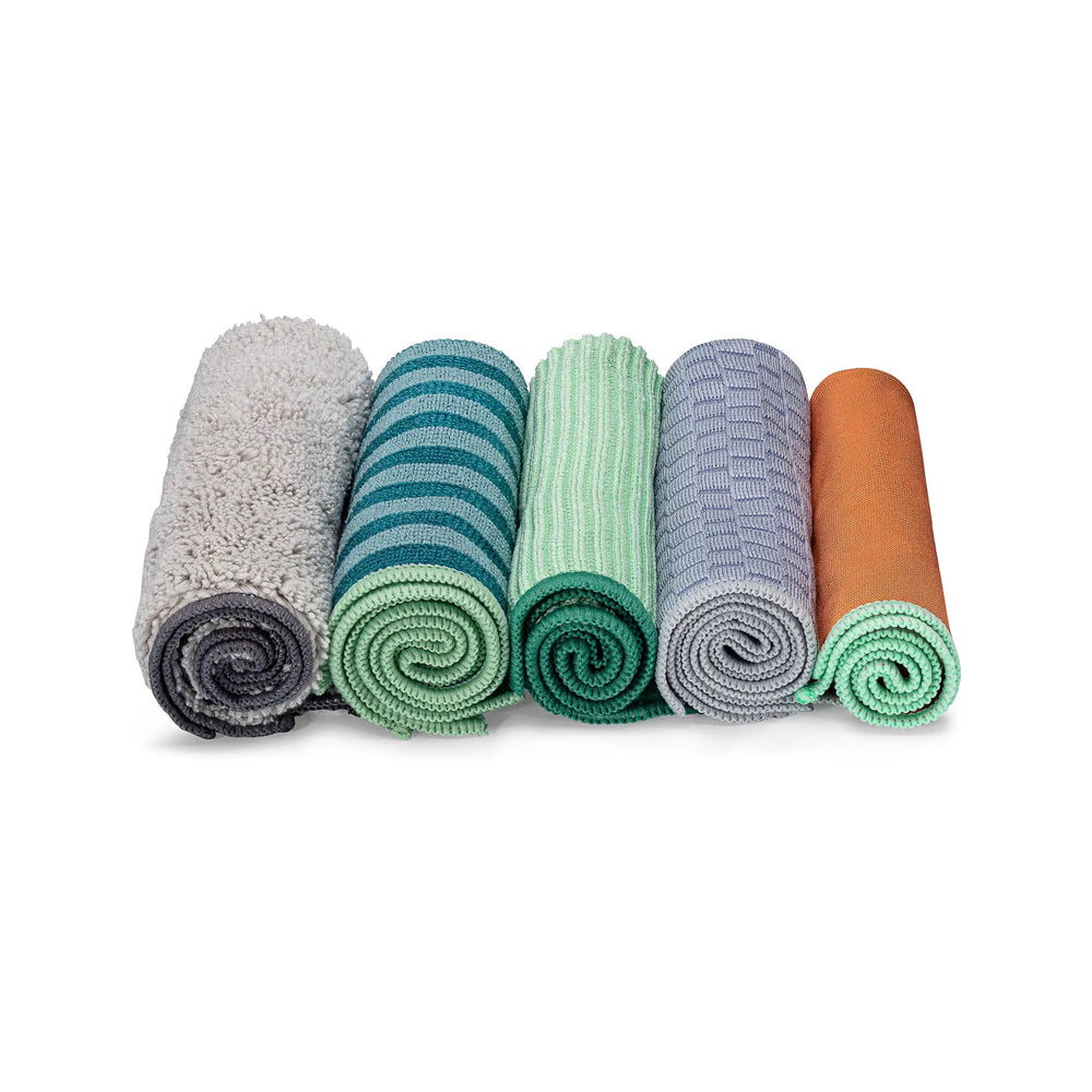 Renew Recycled Microfiber Essential Cloths (Set of 5)
