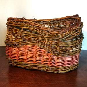 Asymmetric decorative basket