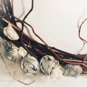 Silver Roses Wreath