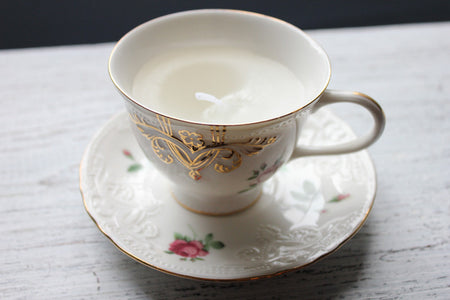 Rose teacup candle - Citronella