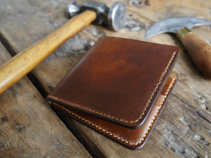 Bifold Leather Wallet - Walnut Brown