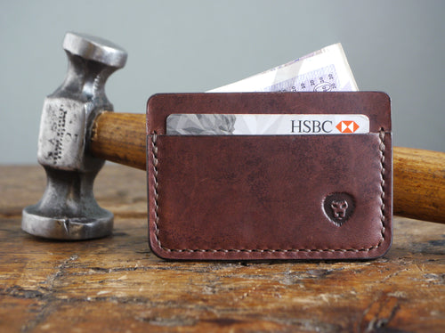 Leather Card Holder - Dark Brown
