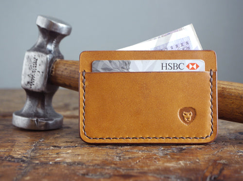 Leather Card Holder - Antique Tan