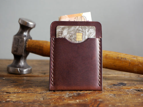 Slim Leather Cardholder - Dark Brown