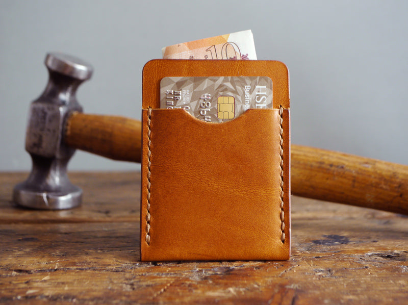 Slim Leather Cardholder - Antique Tan