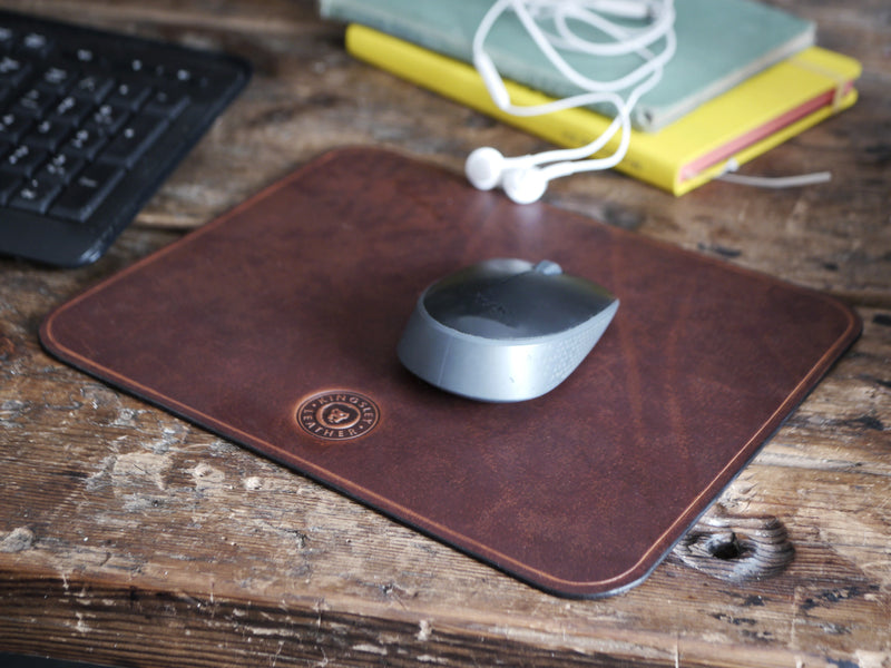 Leather Mouse Pad - Dark Brown