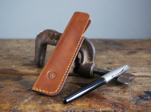 Leather Pen Case - Antique Tan
