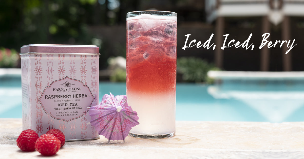 Iced Raspberry Tea Collins Cocktail Recipe Harney Sons