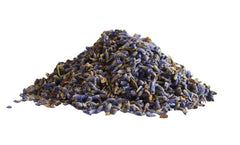 a pile of loose lavender tisane