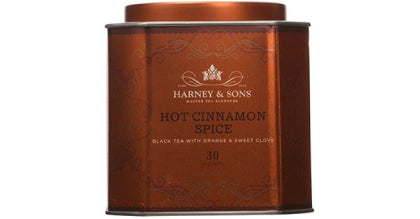 a tin of hot cinnamon spice tea