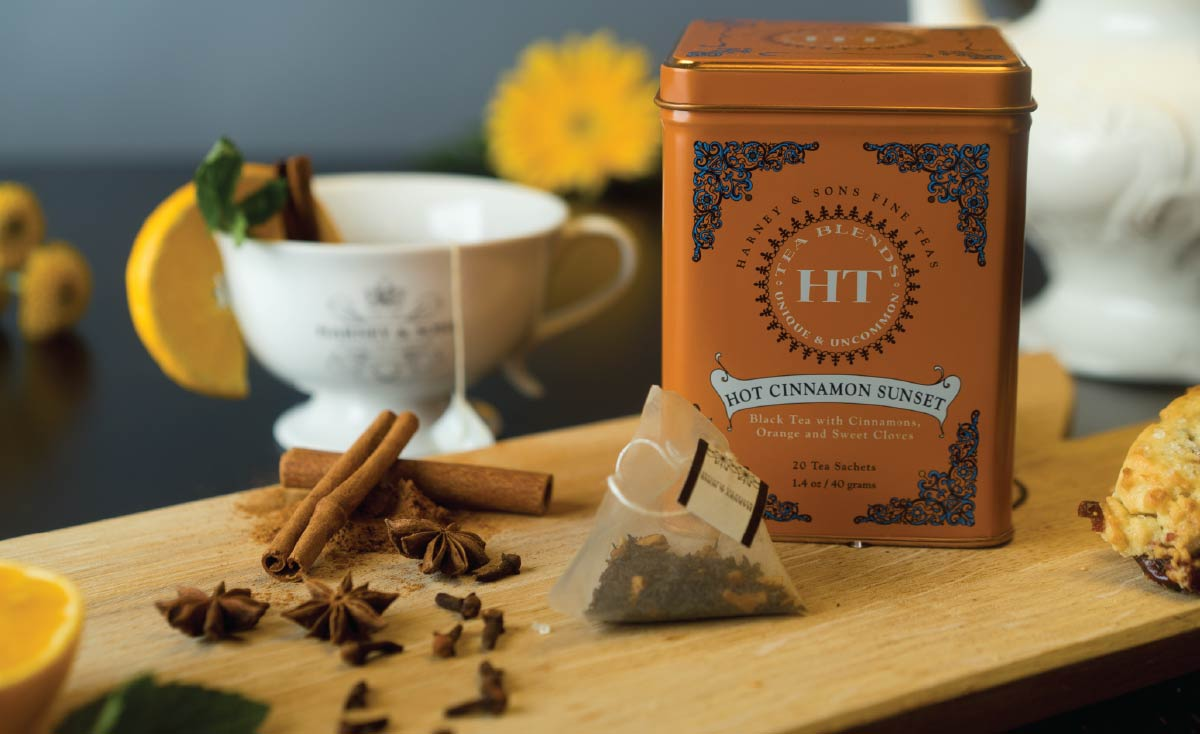Harney & Sons Teafluencer Joel Banta: Hot Cinnamon Sunset