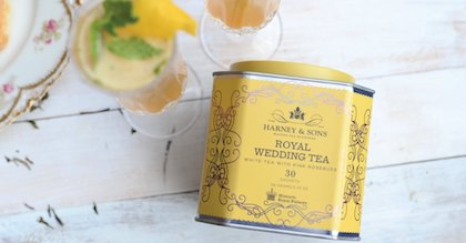 a tin of royal wedding tea sachets