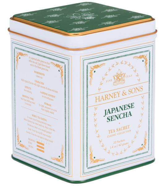 Japanese Sencha, Classic Tin of 20 Sachets