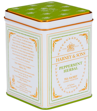 Peppermint Herbal - Sachets Classic Tin of 20 Sachets - Harney & Sons Fine Teas