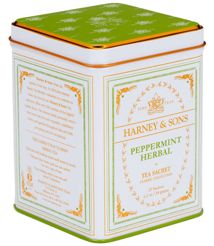 Peppermint Herbal, Classic Tin of 20 Sachets
