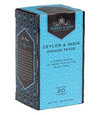 Orange Pekoe (Ceylon & India) - Teabags 20 CT Premium Teabags - Harney & Sons Fine Teas
