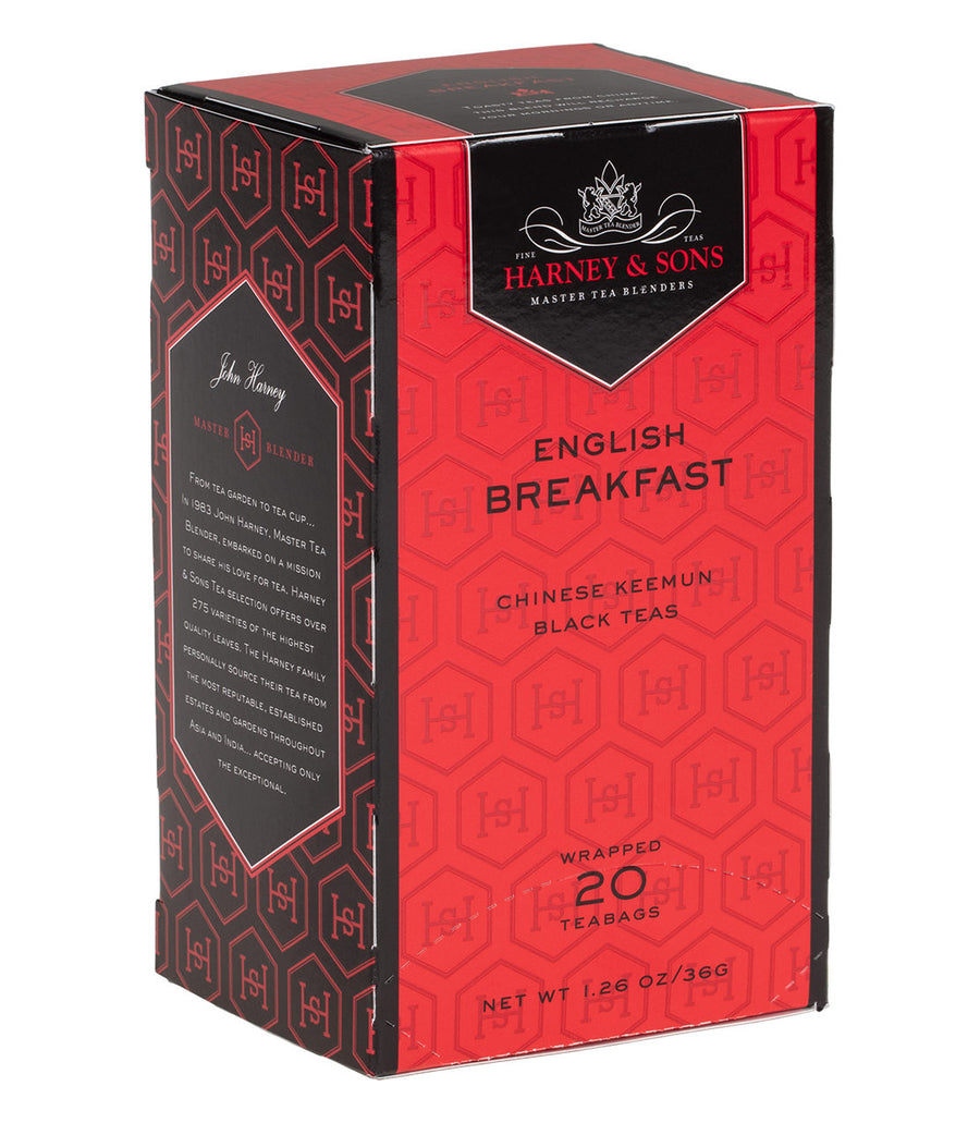 English Breakfast, Box of 20 Premium Teabags -   - Harney & Sons Fine Teas