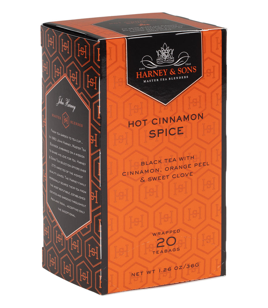 Hot Cinnamon Spice, Box of 20 Premium Teabags -   - Harney & Sons Fine Teas