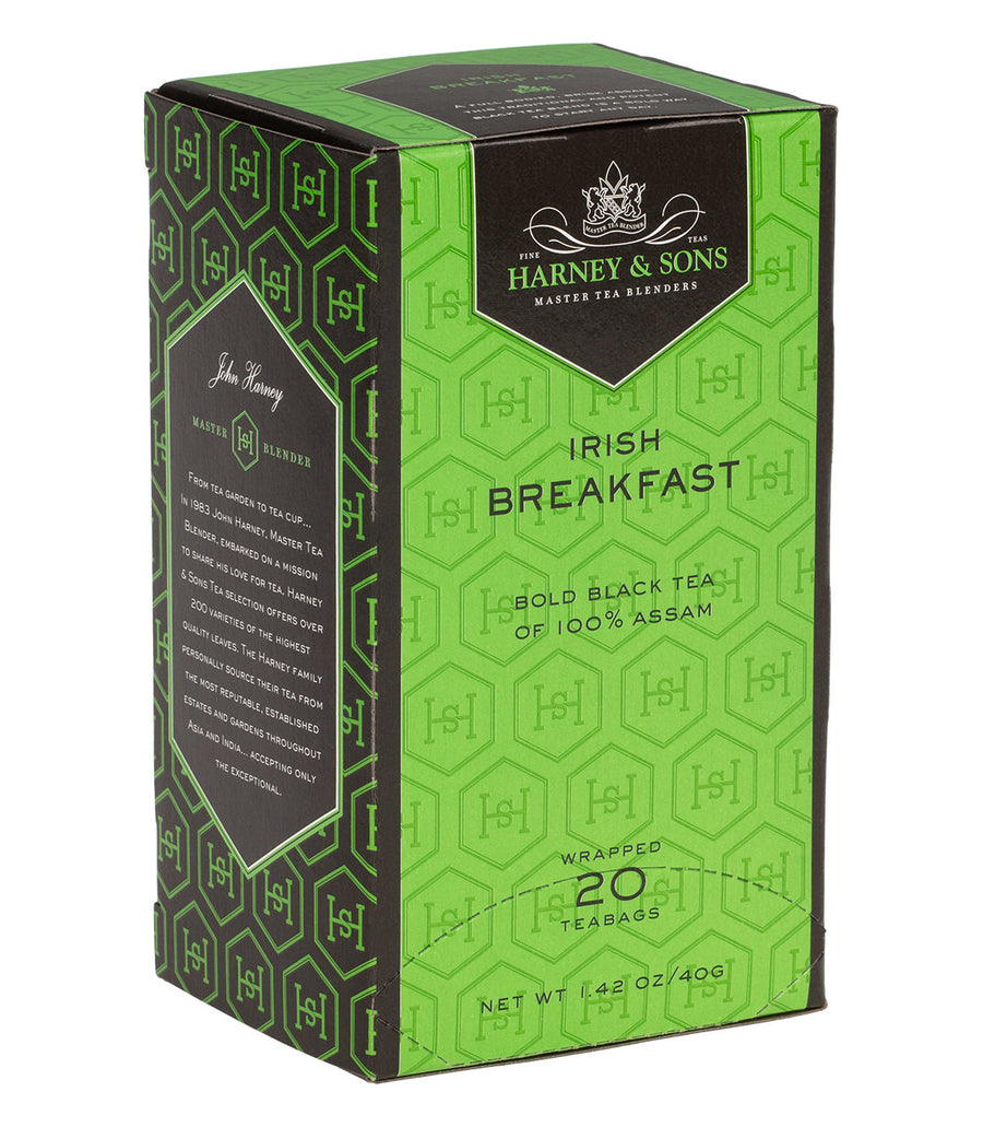 Irish Breakfast, Box of 20 Premium Teabags -   - Harney & Sons Fine Teas