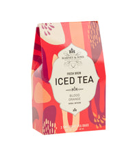 Blood Orange Fresh Brew Iced Tea - Iced Tea Pouches Box of 3 Pouches - Harney & Sons Fine Teas