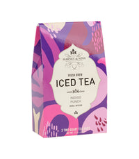 Indigo Punch Fresh Brew Iced Tea - Iced Tea Pouches Box of 3 Pouches - Harney & Sons Fine Teas