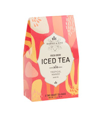 Tropical Mango Fresh Brew Iced Tea - Iced Tea Pouches Box of 3 Pouches - Harney & Sons Fine Teas