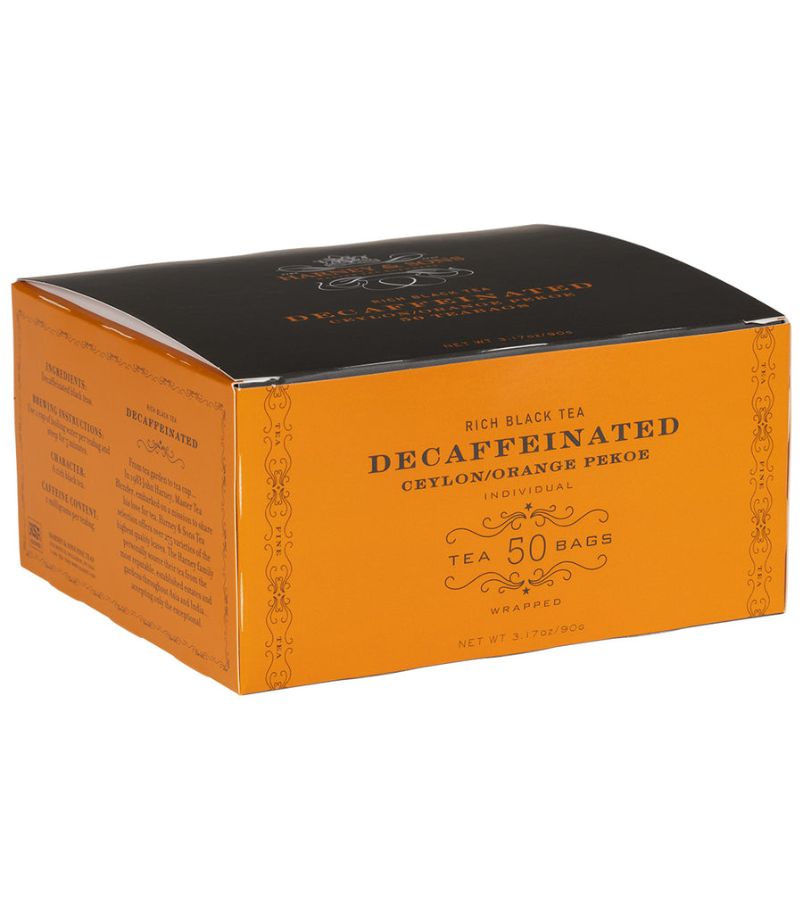 Decaf Ceylon, Box of 50 Foil Wrapped Teabags -   - Harney & Sons Fine Teas