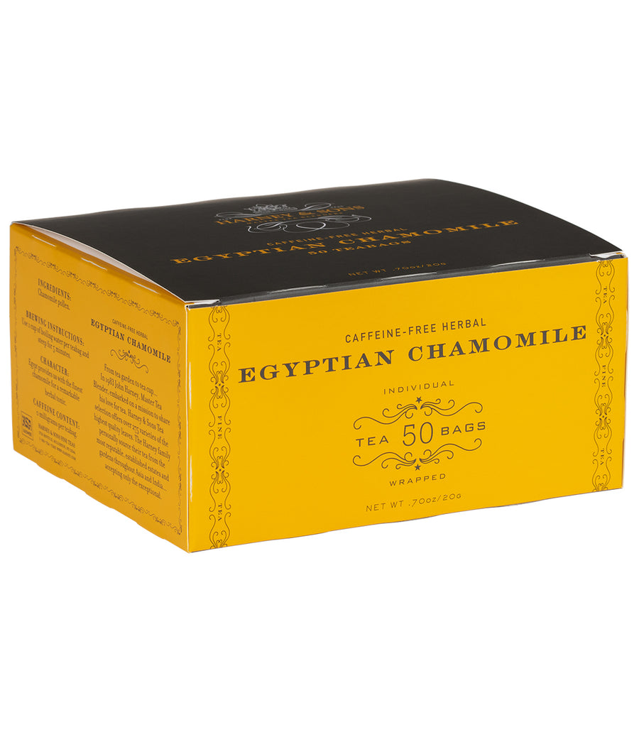 Egyptian Chamomile, Box of 50 Foil Wrapped Teabags -   - Harney & Sons Fine Teas