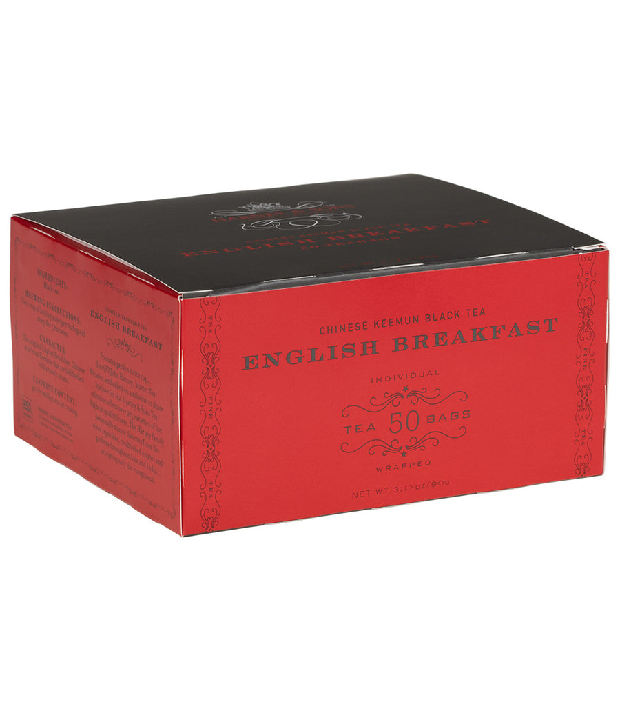 English Breakfast, Box of 50 Foil Wrapped Teabags -   - Harney & Sons Fine Teas