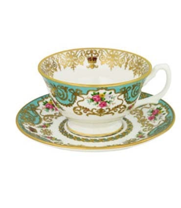 Historic Royal Palaces Teacup & Saucer - Historic Royal Palaces Teacup & Saucer  - Harney & Sons Fine Teas