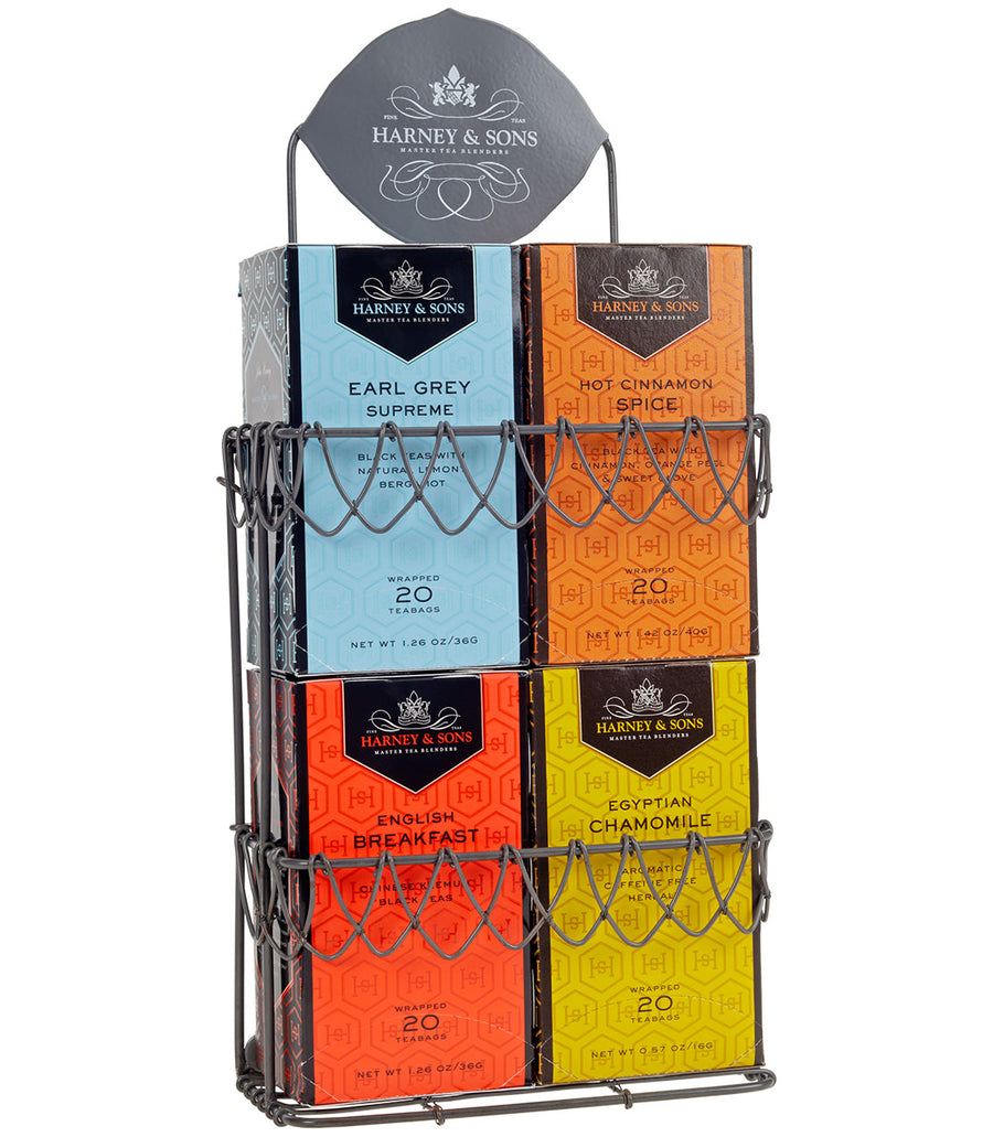 Harney & Sons Display Rack - Decorative Wire, for 4 Premium Teabag Boxes - Empty  - Harney & Sons Fine Teas