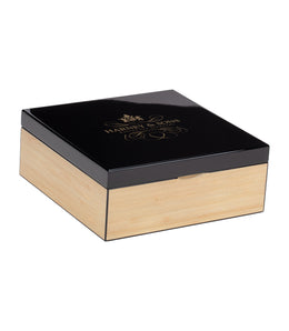 Natural & Black Wooden Tea Chest Featuring Nine Teas - Teabags -   - Harney & Sons Fine Teas