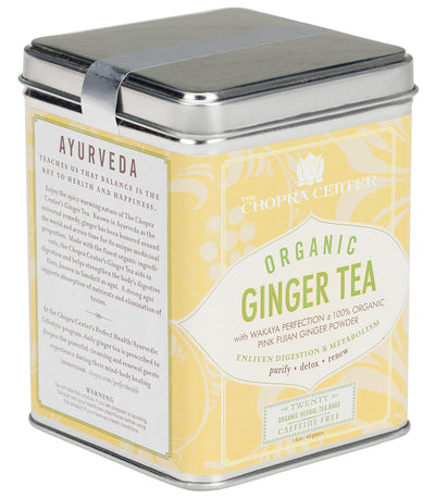 Chopra Center Organic Ginger Tea, Tin of 20 Sachets